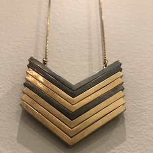 MADEWELL MIXED METAL CHEVRON NECKLACE